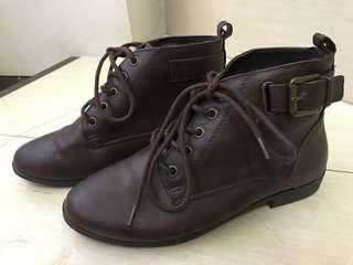 F21 Brown Ankle Boots