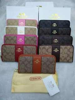 Coach wallets with box