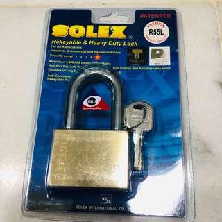 Solex Lock - Premium Rekeyable & Heavy Duty Lock