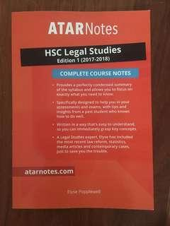 ATAR notes HSC legal study complete course notes