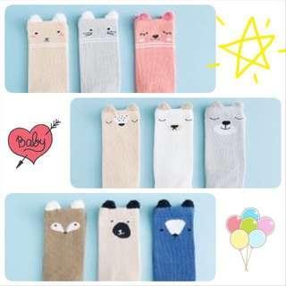 BN Brand New Baby Long Knee High Winter Socks Pink Girl Boy Korea Kids Kid Cute Animal
