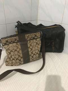COACH MESSENGER BAG SECOND N  TRAVEL BAG BARU