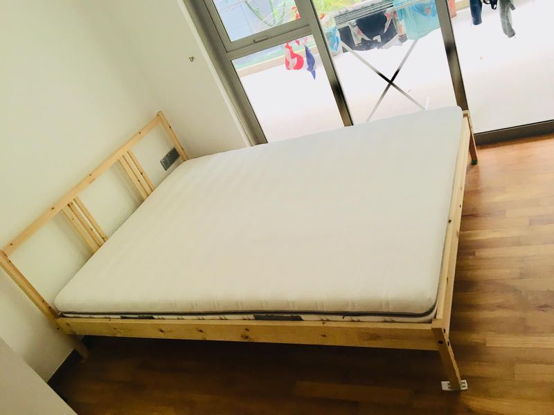 1 Year Old Ikea Bed And Mattress Furniture Beds Mattresses On