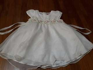 (Free Normal Mail)Used twice Baby Girl Dress 9-12mths