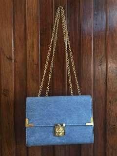 Blue Gold Bag/Clutch