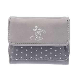 🌟日本Disney store直送🌟米奇 Mickey 公仔 麂皮 三摺短銀包