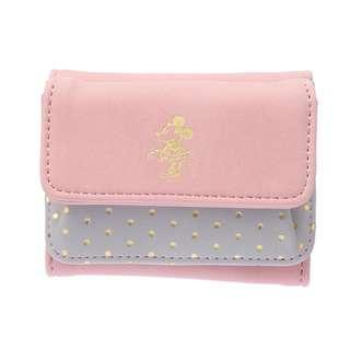 🌟日本Disney store直送🌟米妮 Minnie 公仔 麂皮 三摺短銀包