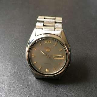 Seiko 5 Grey Used Working