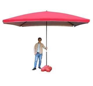 3米X3米洒紅色太陽傘