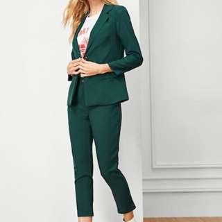 BNWT Green Blazer & Pants Set