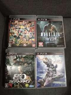 PS3 Games selection