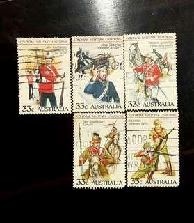 🚚 澳大利亞殖民地士兵制服郵票