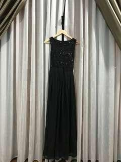 Black Evening Dress / Dinner Dress