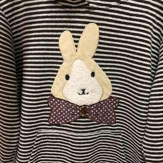 🚚 可愛兔寶寶連帽長袖上衣
