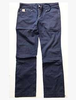 NIKE Streetwear Slim Fit Pants Blue (Size Medium)