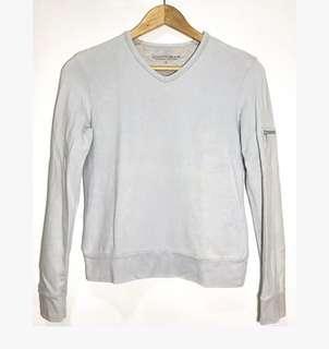 BOSSINI LADIES Knitwear Long Sleeved Top Gray / Blue (Size 7)