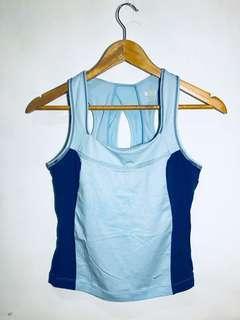 NIKE Womens Workout Sleeveless Top Royal Blue / Light Blue (Size Medium)
