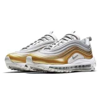 Authentic NIKE AIR MAX 97 SE W GREY, SILVER, GOLD & WHITE