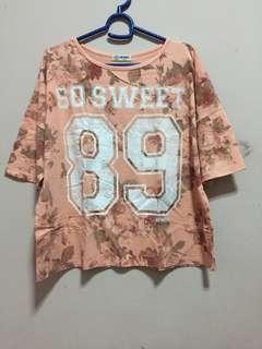 Oversize pink peach t shirt