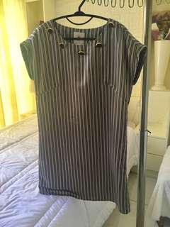 CIEL Silk Striped blouse