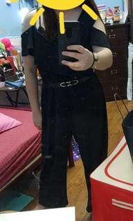 Plus Size Romper Black