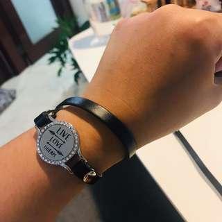 Essential oil watch diffuser with rhinestone