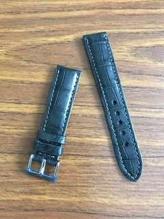 20mm/18mm Authentic Space Grey Crocodile 🐊 Alligator Watch Strap 🌟 Blancpain Moser and Cie Vacheron Constantin Rolex Datejust 2 II 36 41 Submariner Daytona Zenith👍🏻