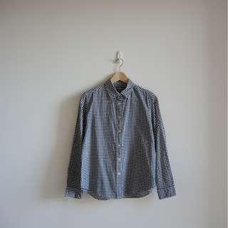 Uniqlo基本款格子長袖襯衫 免運