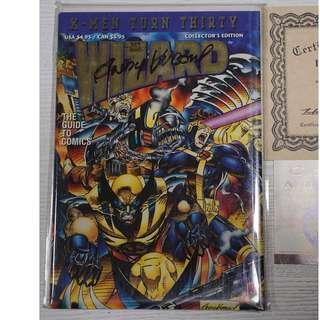 WIZARD Comics Magazine X-Men Turn 30 signed ANDY KUBERT with Certificate Authenticity Marvel Collector's Edition