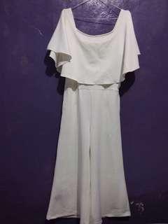 Sabrina Jumpsuit Putih White Premium