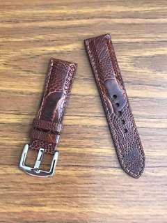 22mm/20mm Authentic Cognac Brown Ostrich Leg Watch Strap 👍🏻 for Rolex Skydweller Deepsea Seadweller DSSD SD43 Jaeger LeCoultre JLC Master Compressor FP Journe Roger Dubius Zenith 🌟