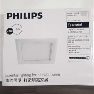 Philips 12W Led downlight SQUARE