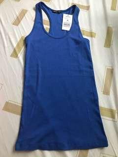 Royal Blue Terranova Razor Back Sleeveless Brand New