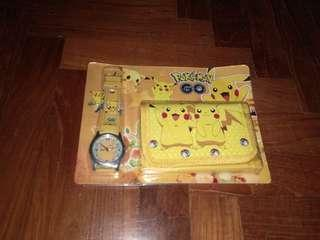 Pokemon wallet and watch
