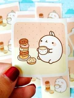 💖SPECIAL💖 Molang Donuts Scrapbook / Planner Stickers #274