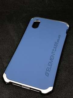 iPhone X case 連保護貼(藍色)