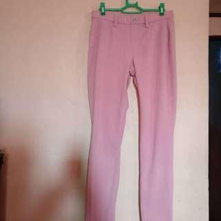 Free SF!Uniqlo millenial pink jeggings