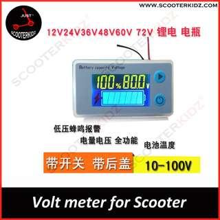 Voltmeter for Scooter and Ebike