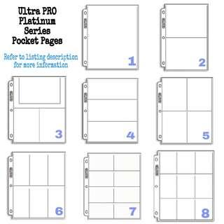 Ultrapro / Ultra Pro Platinum Pocket Pages