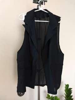 Vest and Short Set in Black