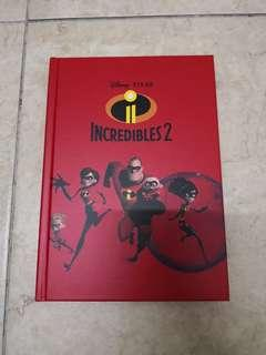 Disney Pixar Incredible 2 Note Book