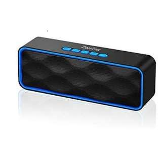 [E468] ZoeeTree S1 Wireless Bluetooth Speaker with HD Audio and Enhanced Bass, Built-In Dual Driver Speakerphone, Bluetooth 4.2, Blue