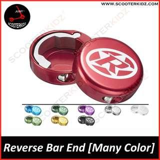 Reverse bar end cap