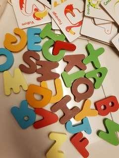 ABC alphabet education game puzzle