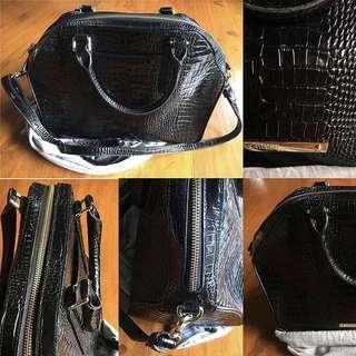 Brahmin Embossed Crocodile Leather Bag