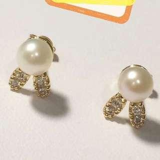 18K Japan Gold pearl earring