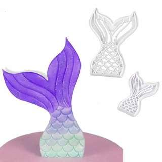 Mermaid Tail Cutter Set of 2 / mermaids cutters tails