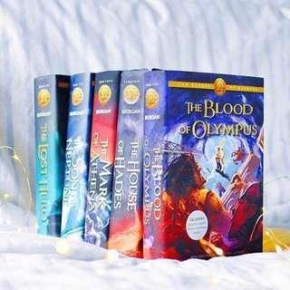 [ HB ] the heroes of olympus series (hardcover) - rick riordan