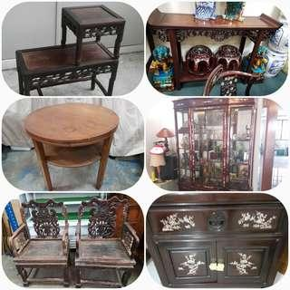 BUYING USED ANTIQUE  FURNITURE  WHATSAPP  HP 9857 6677  THANKS