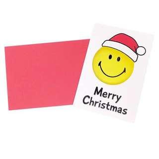 ⭕️ 14/11/2018 最新上架 ⭕️ 日本直送 可愛 哈哈笑 Smiley Merry Christmas 聖誕卡 💖 Made in Japan 💖 ⭕️ A款 ⭕️